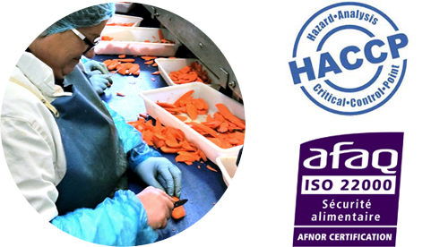 Nature Frais is AFAQ ISO 22000 certified and benefits from a HACCP plan